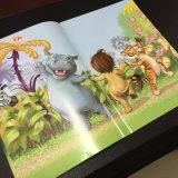 Couverture molle, grippement parfait polychrome de livre d'enfants d'impression offset/piquer de selle