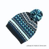 Sombrero hecho punto sombrero de la gorrita tejida del sombrero del telar jacquar de POM POM