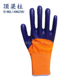13 de Handschoen van het Werk van de Veiligheid van de Polyester van de maat met Met een laag bedekt Nitril 3/4