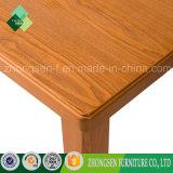 安い価格の純木の家具の長方形のダイニングテーブルの販売オンラインで
