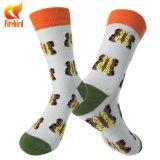 Носки платья формы счастливых носок цветастые животные для людей