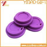 シリコーンの食品等級のコーヒーカップのふたの紫色カラー(XY-FL-175)
