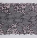 Laço suíço bicolor personalizado do Voile da tela de engranzamento da flor