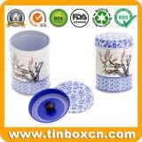 O armazenamento dobro do transportador do alimento do recipiente da vasilha do chá da tampa range o estanho