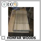 Blanc de type romain de matériau de construction ou frontière de sécurité en bois d'escalier de Brown