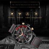 極度の明るく優雅なステンレス鋼の水晶腕時計のクロノグラフの腕時計のメンズウォッチ72777