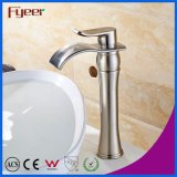 Fyeer Brass High Body com flutuador Oblate Nickle Brushed Waterfall Faucet do navio