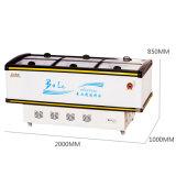 Refrigerador compato da porta deslizante do indicador do Showcase com luz do diodo emissor de luz