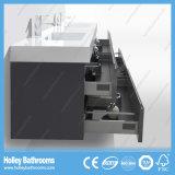 Erstklassige moderne an der Wand befestigte Badezimmer-Eitelkeit mit 2 Bassins und 4 Fächern (BF340D)
