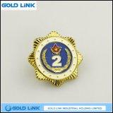 Pin su ordinazione del panno dell'emblema di Pin del risvolto del metallo del distintivo del blu marino della polizia