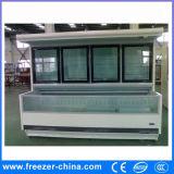 Congelador combinado colmado del pecho de la isla en la parte inferior/el refrigerador superior