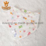 Algodón orgánico promocional del babero el 100% del bebé del Bandana de la alta calidad más nueva caliente del diseño