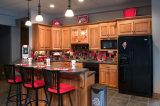 Armadi da cucina moderni di legno solido delle cucine di legno calde di vendita