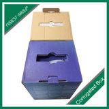 Fácil Llevar brillante caja de cartón corrugado acabado con la manija