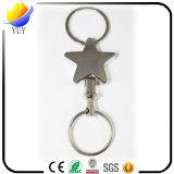 Catena chiave del metallo della stella dell'incisione di modo