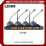 Microphone sans fil Ls-Q4 à quatre canaux UHF Microphone sans fil