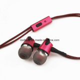 Icellway a stigmatisé le stéréo mains libres dans l'écouteur de câble tressé par Chine d'écouteur attaché par oreille en métal