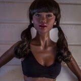 Nieuw 168cm Zwart a-kop Doll van het Silicone met Harig Doll van het Geslacht van de Vagina