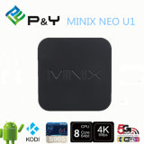 2016 고성능! 미디어 플레이어 유선 텔레비전 고정되는 상단을 흐르는 Minix 신 U1 64 비트 최고 HD 4k