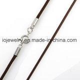 collana spessa 3mm del cuoio dell'acciaio inossidabile di 2mm