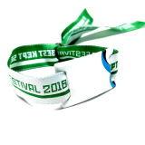 イベントの祝祭の切符RFID NFCのファブリックによって編まれるビニールのリスト・ストラップ