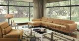 Sofá de couro de canto moderno da sala de visitas da mobília Home (UL-NS205)