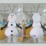 Traje caliente de la mascota de Olaf del hombre de la nieve de la venta para hacer publicidad