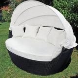 옥외 정원 비치용 의자 등나무 수영장 가구 고리 버들 세공 갑판 의자 Sunbed 속이는 로비 침대