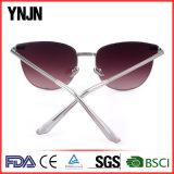 Солнечные очки глаза кота женщин рамки металла Ynjn новые стильные