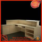 Dispositivos de madera contrarios al por menor al por mayor del almacén del escritorio de cajero