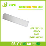 Luz de painel 40W do diodo emissor de luz 295*1195 100lm/W com TUV, Ce