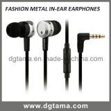 Écouteur mains libres 3.5mm Earbuds en métal d'écouteur de dans-Oreille