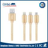 3 in 1 Kabel Coaxiel voor iPhone, Androïde Mi, Norm RoHS
