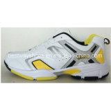 De Sportieve Schoenen van de tennisschoen met het Bovenleer van het Leer van Pu