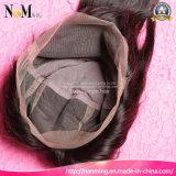 Cabelo natural cabeludo suíço cabelo cordas peruca completa mão atada