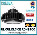 Alta alta luz industrial de la bahía de la bahía 130lm/W 200W 150W 100W LED del UFO