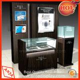 Hölzerner Uhr-Ausstellungsstand-Uhr-Bildschirmanzeige-Schaukasten für System