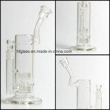 Arrivi di fumo del tubo di acqua nuovo di vetro di vetro di Hfy 12 pollici di Mobius con la tabella Perc Percolaters del doppio della vasca di gorgogliamento da 60 millimetri in azione