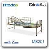 세륨 & ISO 스테인리스 수동 침대 2 기능 병상