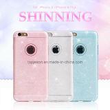 iPhone 6/6s/6 аргументы за сотового телефона ультра тонкого кремния яркия блеска Bling Sparkle мягкое плюс