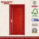 Porta de painel de madeira laminada costume do MDF (GSP8-013)