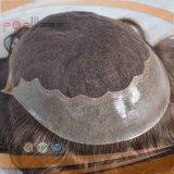 Toupetje van de Kleur Brwon van het Haar van 100% het Braziliaanse Donkere voor Mensen (pPG-l-0221)