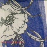 A tela do poliéster tingiu a tela impressa de imitação de linho da fibra química da tela da tela para a matéria têxtil da HOME do vestuário das crianças do revestimento de vestido da mulher