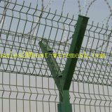 Anti rete fissa dell'aeroporto di obbligazione di ascensione con la parte superiore del filo del rasoio