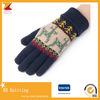 Перчатки шерстей зимы жаккарда способа полным связанные перстом