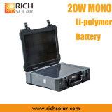 mono gerador recarregável solar portátil do sistema de energia 20W com IP 65