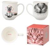 12oz taza de café de recuerdo de cerámica con diseño de animales en caja de Corlor