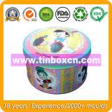 昇進のための円形の錫ボックス、缶、金属のギフト用の箱