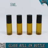 5ml Amber Cosmetic Glass Roll on Tube Bouteille pour Parfum Huile