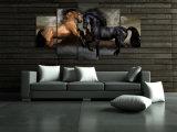 HD imprimió la lona Mc-035 del cuadro del cartel de la impresión de la decoración del taller de impresión de la lona de pintura de los caballos del amor